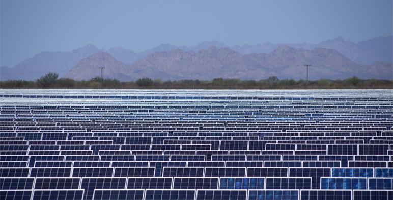 Detalle del parque fotovoltaico.