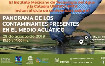 Invitación al ciclo de conferencias sobre el panorama de los contaminantes presentes en el medio acuático