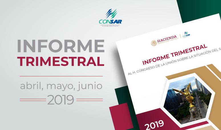 Informe trimestral al H. Congreso de la Unión (abril-junio 2019).