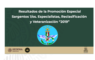 """Promoción Especial Sargentos 1/os. Especialistas, Reclasificación y Veteranización """"2019"""""""