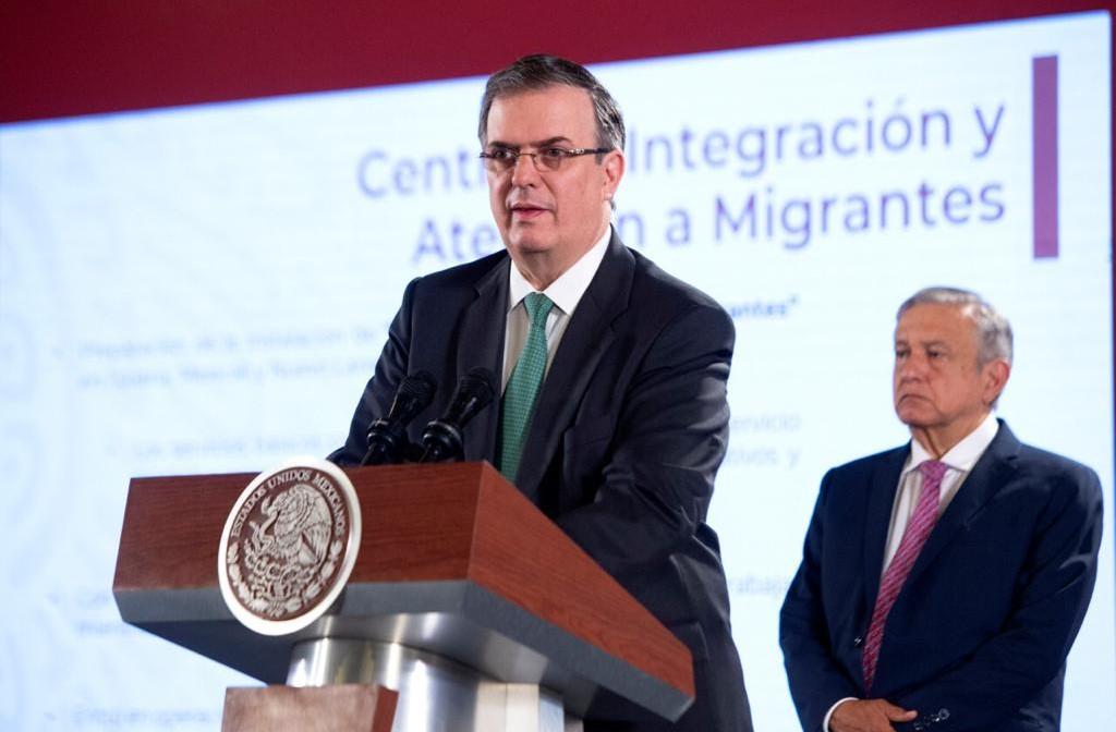 El canciller Marcelo Ebrard presenta avances positivos del Plan de Desarrollo y el fenómeno migratorio