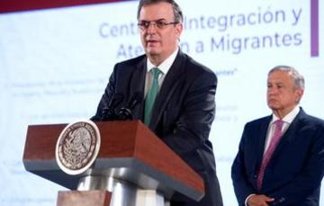 Foreign Secretary Marcelo Ebrard gives progress report on development plan and migration
