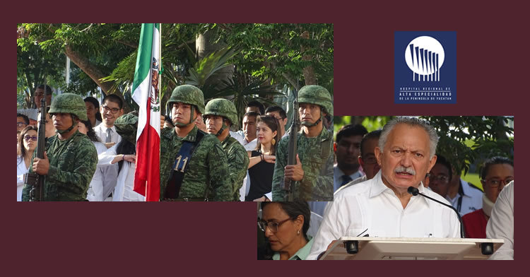 imágenes alusivas a evento cívico militar HRAEPY