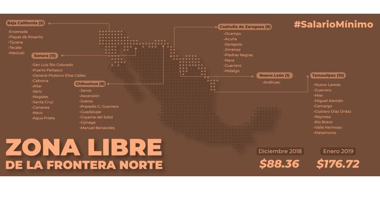 imagen de porta mapa salario en frontera norte