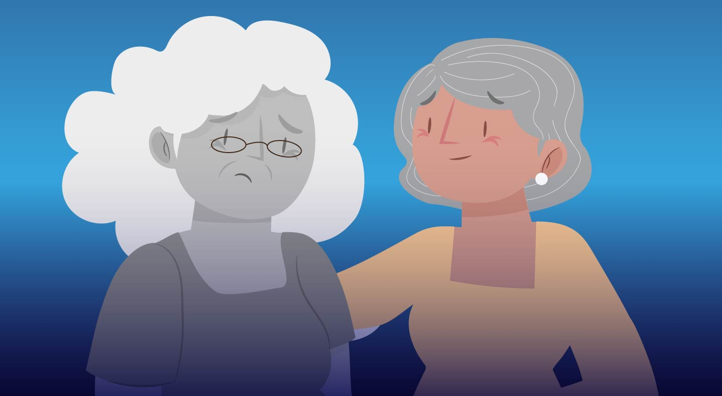 Dos mujeres adultas mayores.