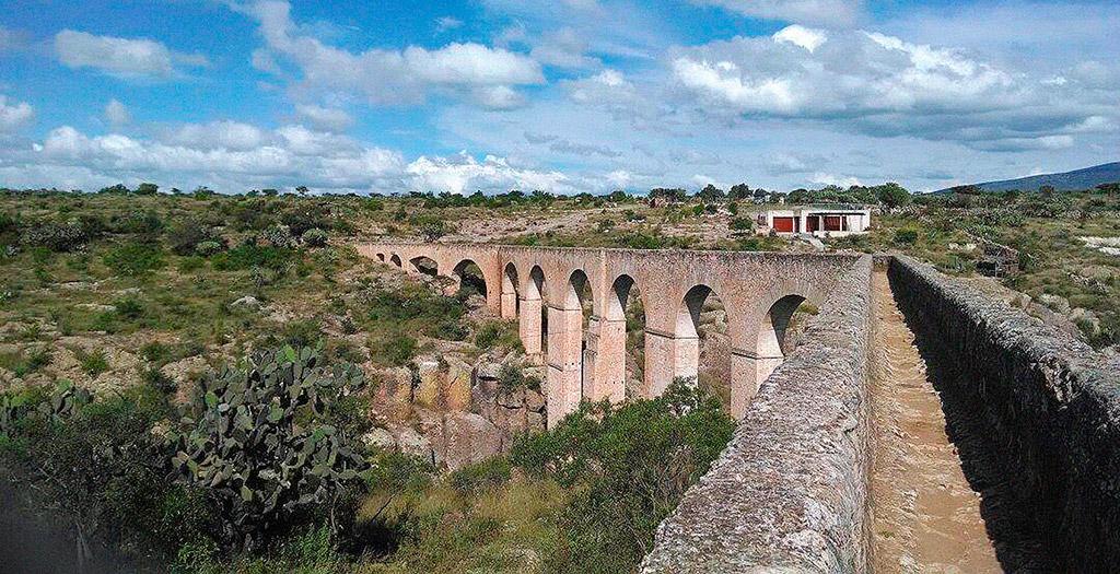"""Acueducto """"El Saucillo"""" en Huichapan, Hidalgo."""