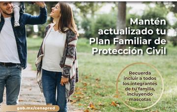 Realiza tu Plan Familiar de Protección Civil
