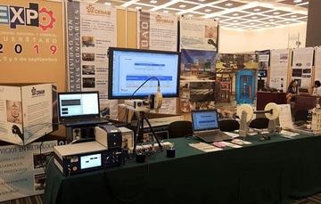 Durante la Expo Industrial y Comercial 2019, el CENAM tuvo oportunidad de mostrar a los visitantes los sistemas desarrollados por sus metrólogos