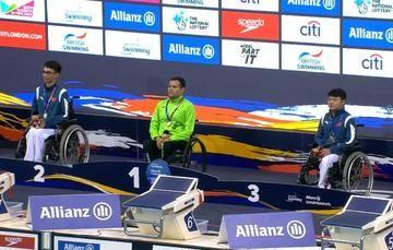 El veracruzano conquistó el oro en la final de 50 metros dorso S3 y ganó la segunda plaza para México a Tokio 2020, en este certamen.