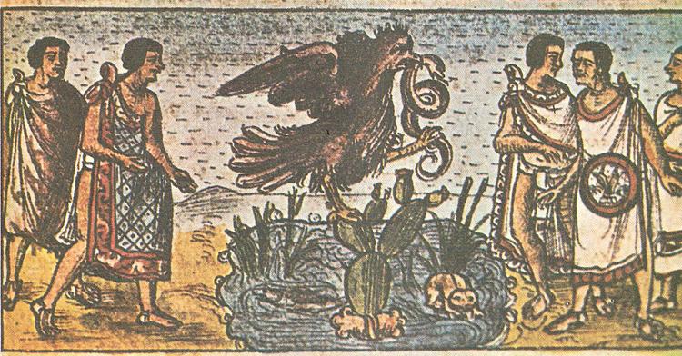 La Fundación de México-Tenochtitlan en el Códice Durán.