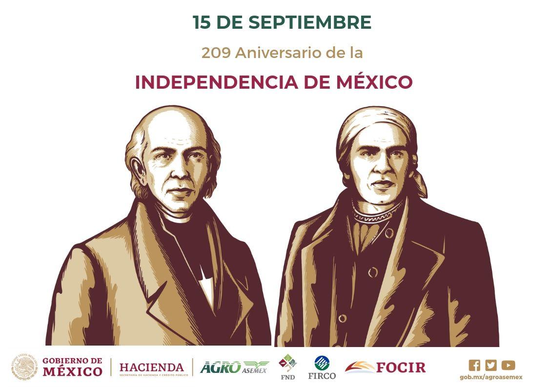 209 Aniversario Del Inicio De La Independencia De Mexico