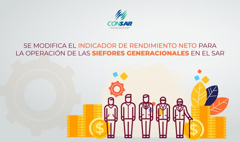 Se modifica el Indicador de Rendimiento Neto para la operación de las SIEFORES generacionales en el SAR.