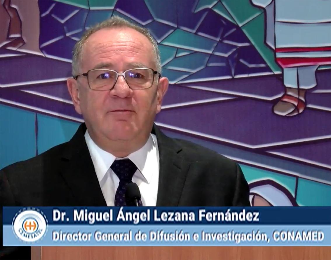 Dr. Miguel Ángel Lezana Fernández, Director General de Difusión e Investigación en la CONAMED.