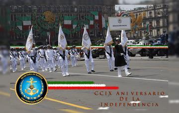 Sistema Educativo Naval en el desfile conmemorativo del 16 de septiembre