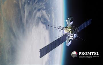 imagen de un satélite apuntando al planeta tierra