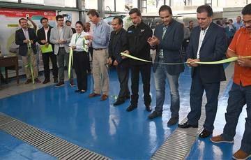 Banderazo de apertura del Laboratorio de Electromovilidad del INEEL.