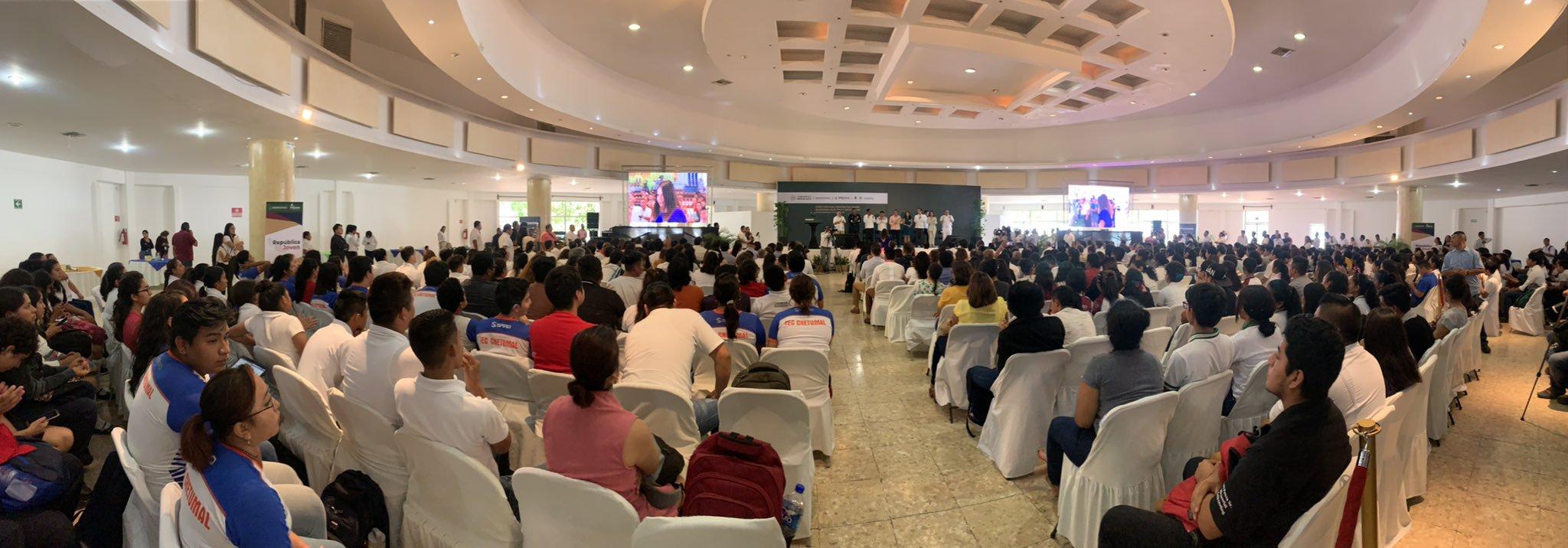 Inauguración del décimo Foro Estatal República Joven en Quintana Roo