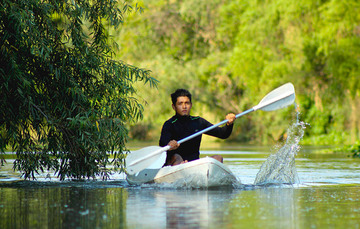 Práctica de kayak en Mascota, Jalisco