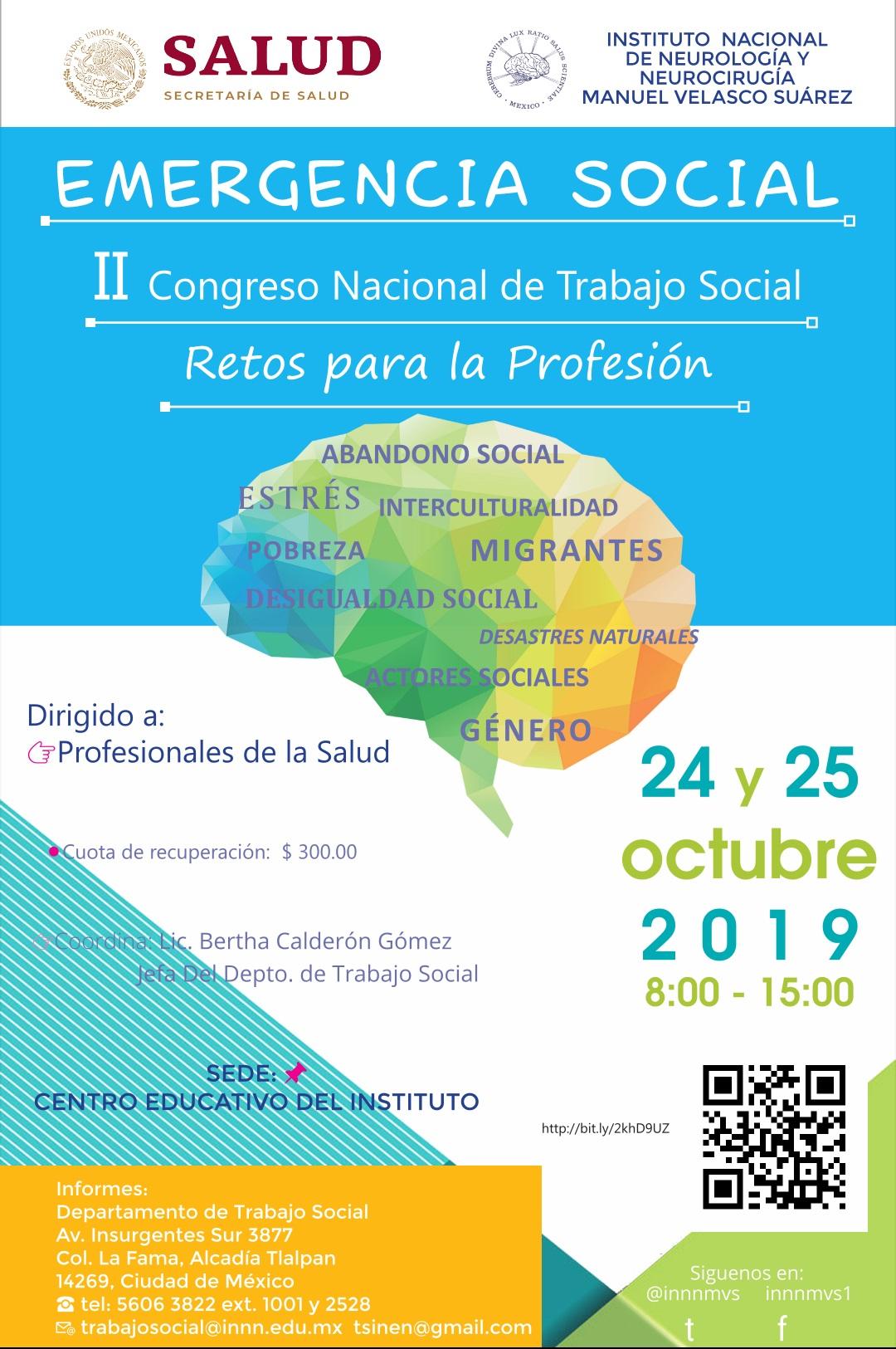 "SEGUNDO CONGRESO DE TRABAJO SOCIAL ""EMERGENCIA SOCIAL : RETOS PARA LA PROFESIÓN"""