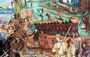 Explotación de México por los conquistadores españoles