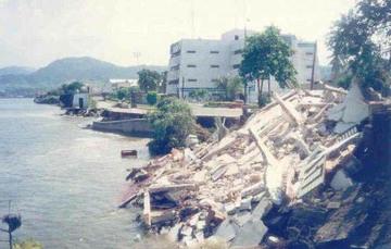 Severos daños  a la infraestructura en el estado de Colima. Fuente: Archivo Municipal, AF medios