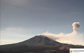 El monitoreo del Volcán Popocatépetl se realiza de forma continua las 24 horas. Cualquier cambio en la actividad será reportado oportunamente.