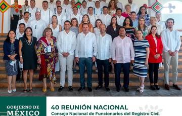 Reunión Nacional número 40 del Consejo Nacional de Funcionarios del Registro Civil realizada en el Estado de Nayarit.