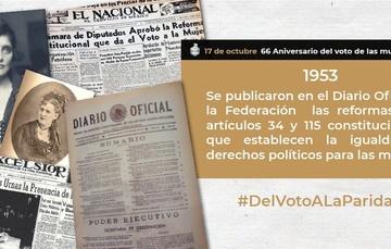 Del voto a la paridad, 66 Aniversario del voto de las mujeres en México.