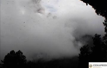 En las últimas 24 horas, mediante los sistemas de monitoreo del volcán Popocatépetl se identificaron 149 exhalaciones, acompañadas de ligeras cantidades de ceniza.