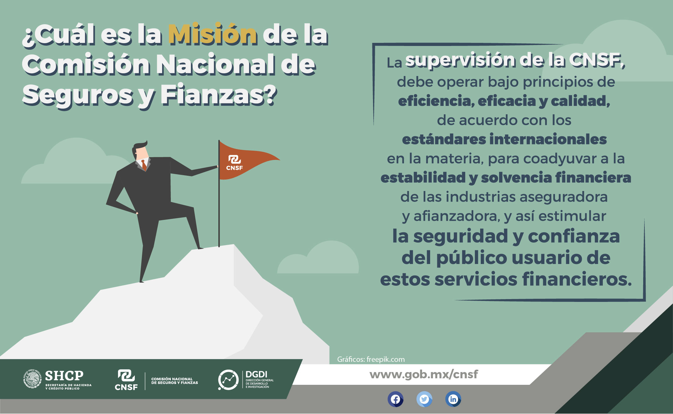 Misión de la CNSF