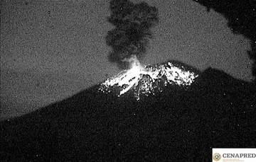 Por medio de los sistemas de monitoreo del volcán Popocatépetl se identificaron 145 exhalaciones, acompañadas de gases y ligeras cantidades de ceniza. Además se identificaron 245 minutos de tremor y ocho explosiones.