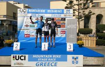 El ciclista de montaña logró 140 unidades durante su participación en dos competencias en Grecia.