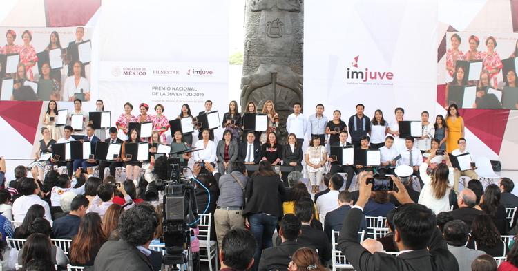 Galardonadas y galardonados del Premio Nacional de la Juventud 2019