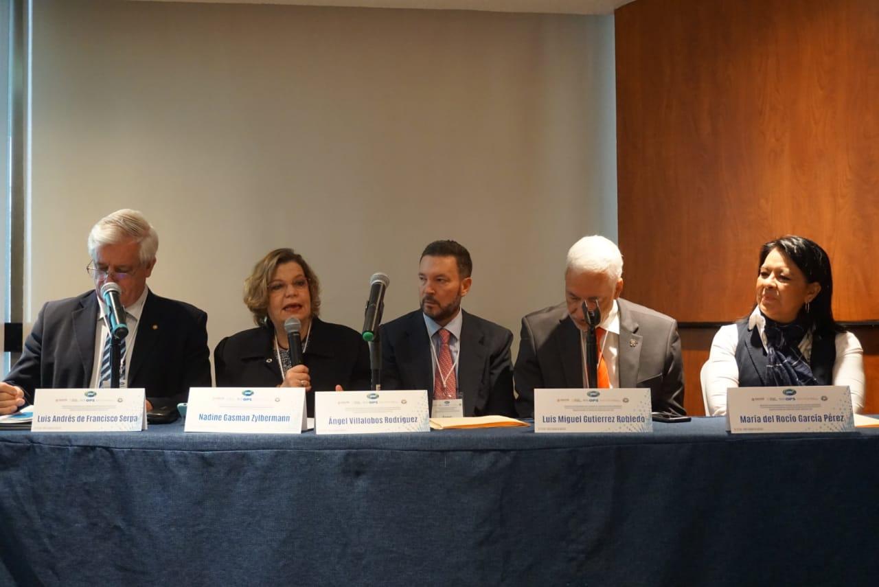 """Nadine Gasman durante el evento """"Desarrollo de Capacidades para Cuidados de Largo Plazo de Base Comunitaria""""."""