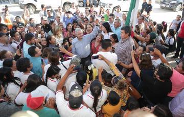 El presidente de México, Andrés Manuel López Obrador, durante el diálogo con los pueblos Guarijío y Mayo desde Álamos, Sonora.