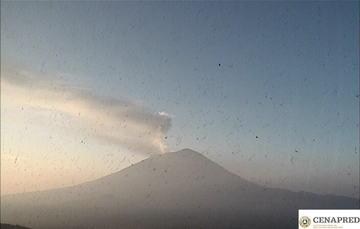 Por medio de los sistemas de monitoreo del volcán Popocatépetl se identificaron 231 exhalaciones.