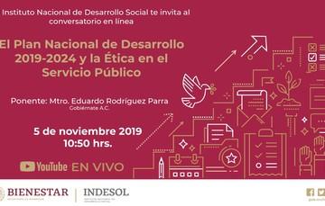 Banner El Plan Nacional de Desarrollo 2019-2024 y la Ética en el Servicio Público