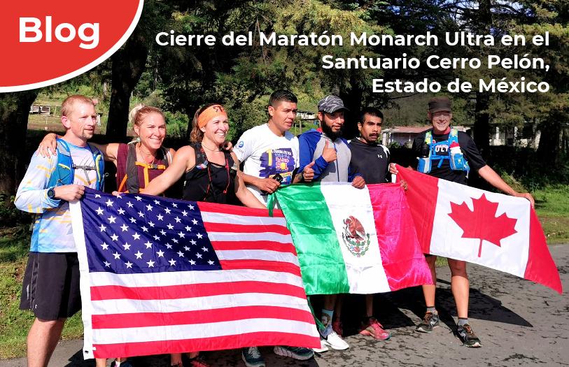 Cierre del Maratón Monarch Ultra en el Santuario Cerro Pelón, Estado de México