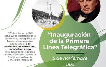 Aniversario de la Inauguración del Telégrafo en México