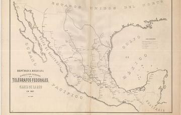 La Mapoteca Manuel Orozco y Berra resguarda mapas de redes telegráficas.