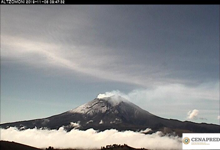 Por medio de los sistemas de monitoreo del volcán Popocatépetl se identificaron 58 exhalaciones, acompañadas de gases y ligeras cantidades de ceniza, así como tres explosiones moderadas a las 22:50, 03:00 y 05:01 h.
