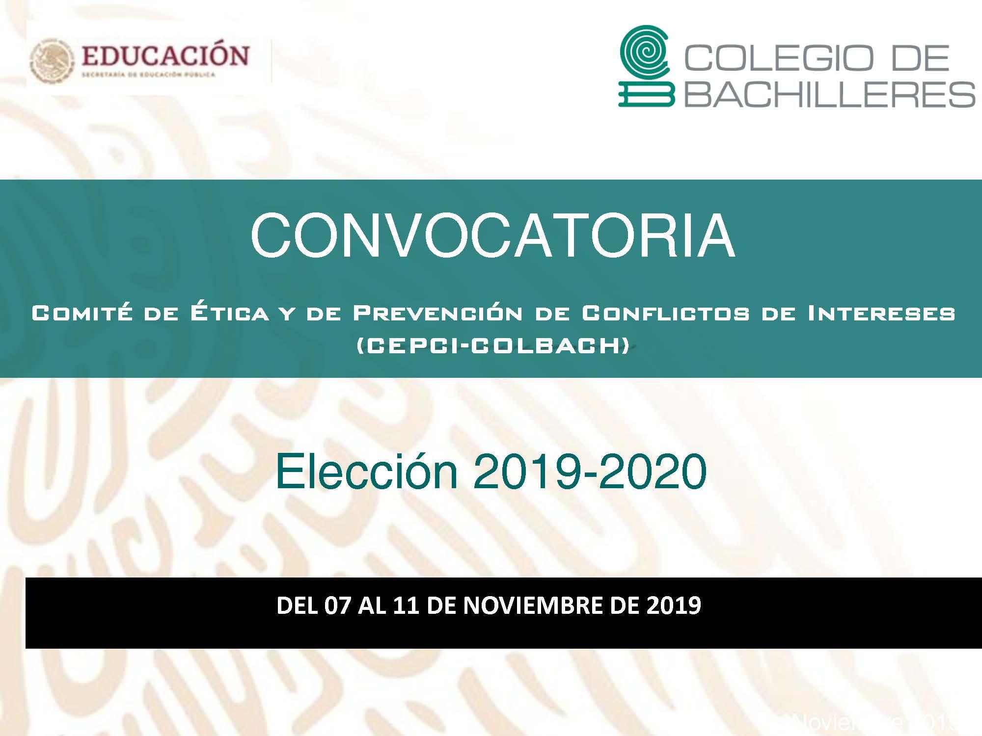 Comité de Ética y de Prevención de Conflictos de Intereses (CEPCI - COLBACH)