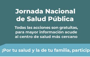 Imagen de la Jornada Nacional de Salud Pública.