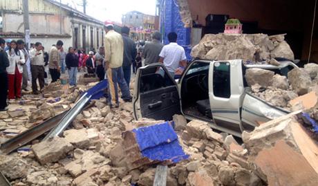 Los departamentos de Quetzaltenango y San Marcos, Guatemala, fueron los más afectados. En Chiapas, el fenómeno provocó daños menores en las fronterizas Ciudad Hidalgo y Tapachula. Foto: Xinhua