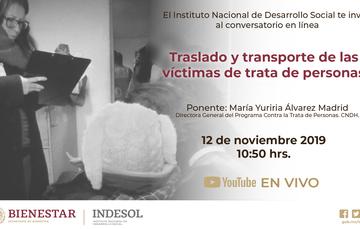Banner traslado y transporte de las víctimas de trata de personas