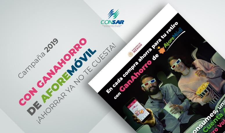 CONSAR lanza su campaña: Con Ganahorro de AFOREMÓVIL ¡Ahorrar ya no te cuesta!
