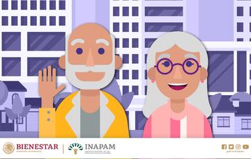 Dos personas mayores. Un hombre y una mujer. Sonriendo.
