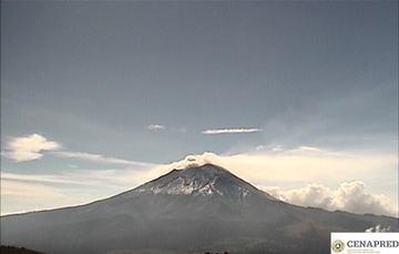 Por medio de los sistemas de monitoreo del volcán Popocatépetl se identificaron 182 exhalaciones acompañadas de vapor de agua, gases volcánicos y bajo contenido de ceniza.