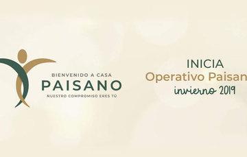 Se muestra el logotipo a color del operativo Paisano invierno 2019.