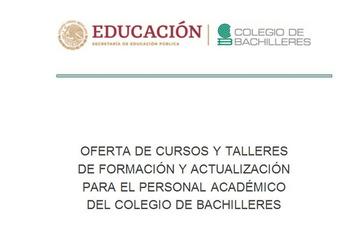 Oferta de cursos y talleres de formación y actualización para el personal docente 2020-A